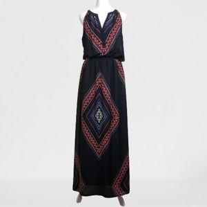 Old Navy sleeveless boho maxi dress black medium